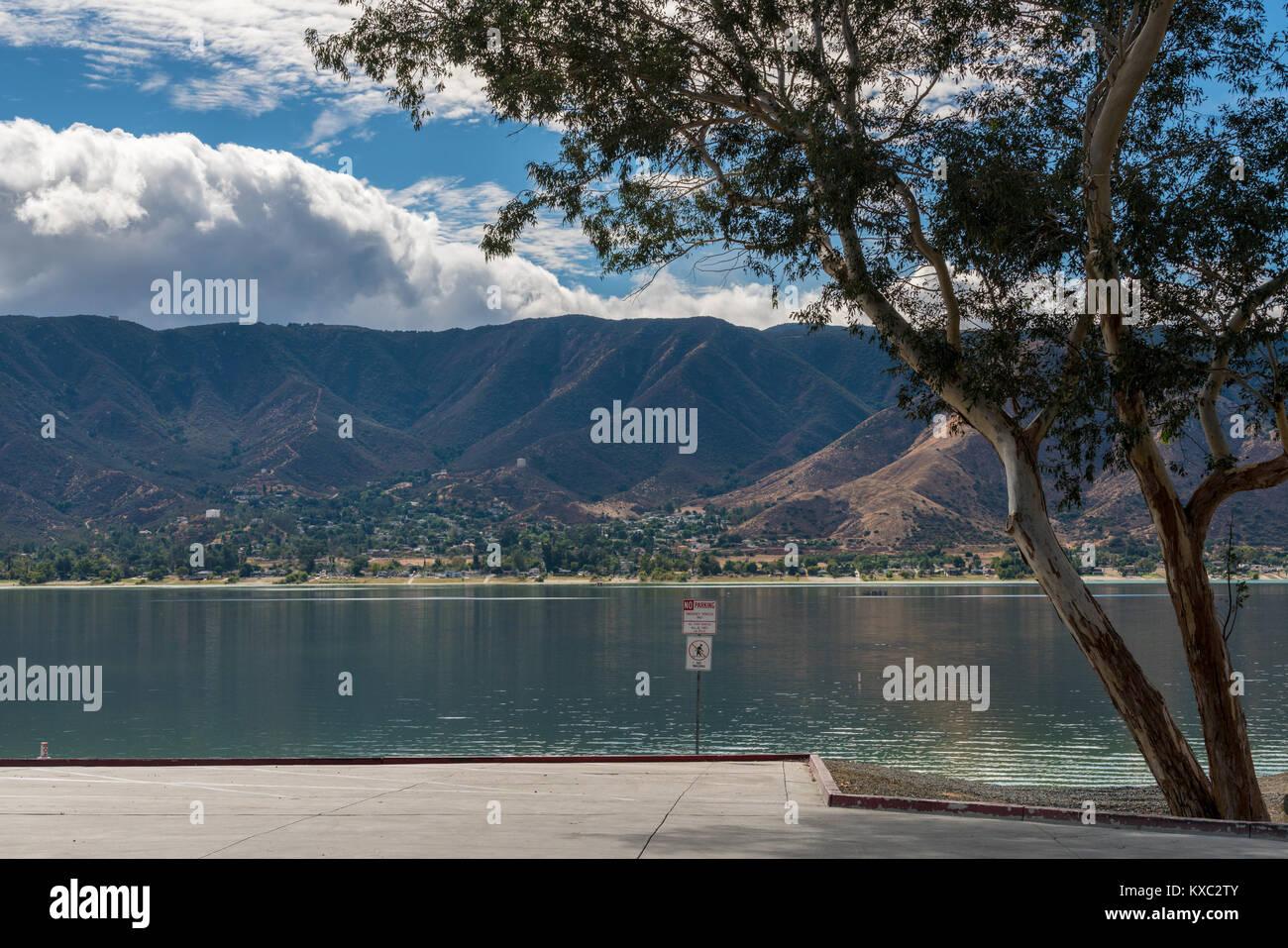 Waterside view of Lake Elsinore in California - Stock Image