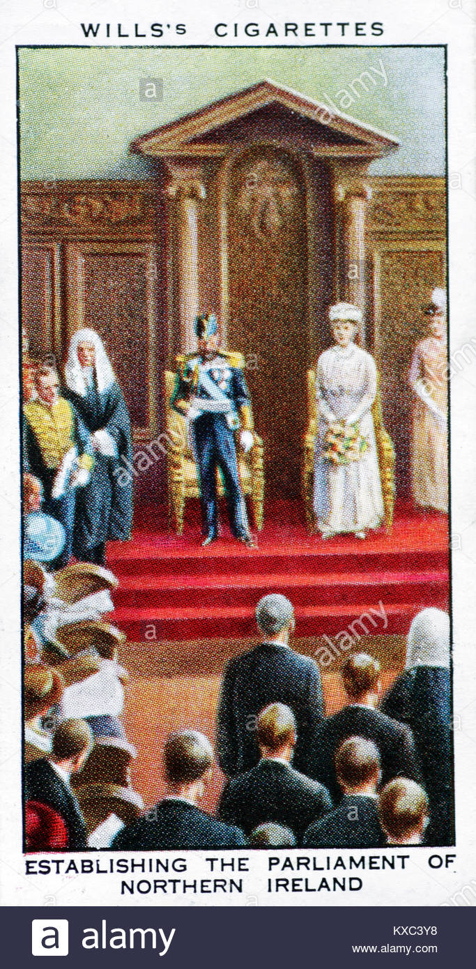 The Reign of King George V - Establishing the parliament in Ireland 1921 - Stock Image
