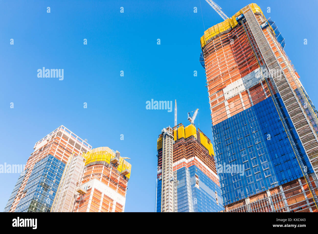 New York City, USA - October 27, 2017: Construction development at the Hudson Yards in Manhattan, NYC, on Chelsea Stock Photo