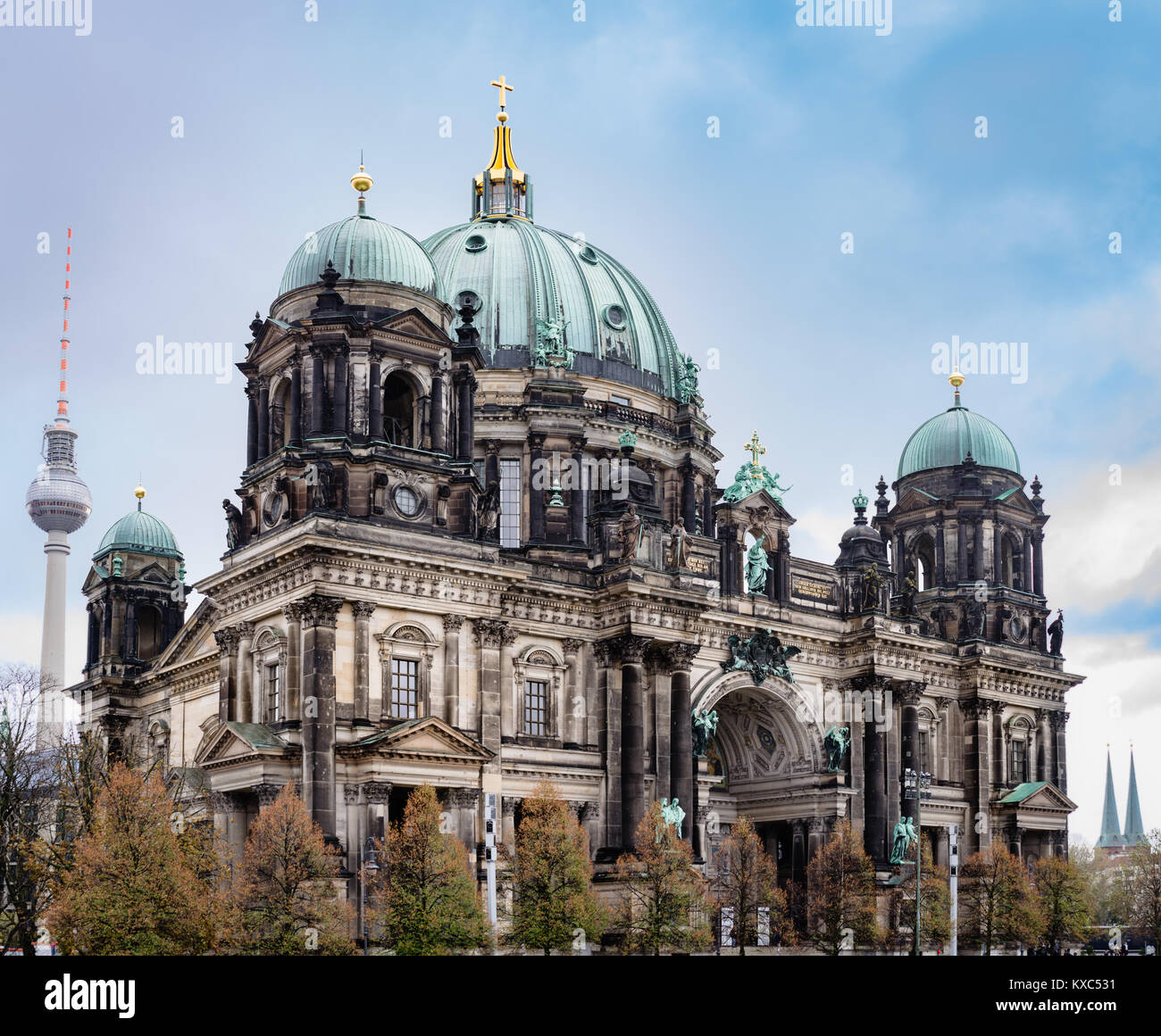 Berlin Cathedral Church, also called the Berliner Dom in Berlin Germany. - Stock Image