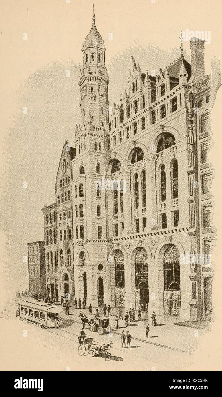 The Penn Mutual Life Insurance Company, Chestnut Street, Philadelphia, circa 1900 - Stock Image