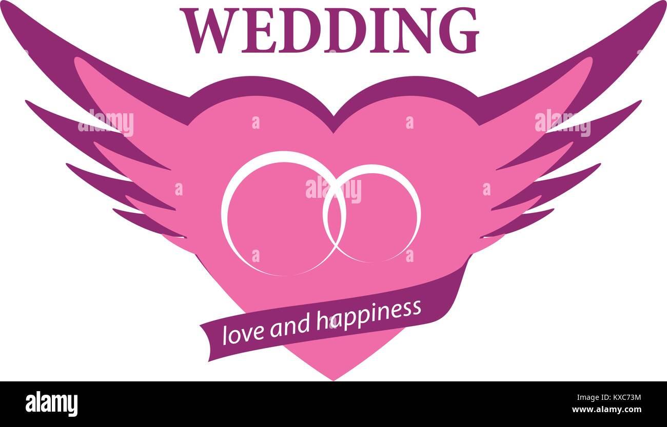 Wedding Logo Couple Rings Icon Stock Photos & Wedding Logo Couple ...
