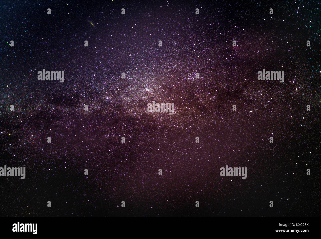 Milky Way galaxy with stars and space dust in the universe - Stock Image