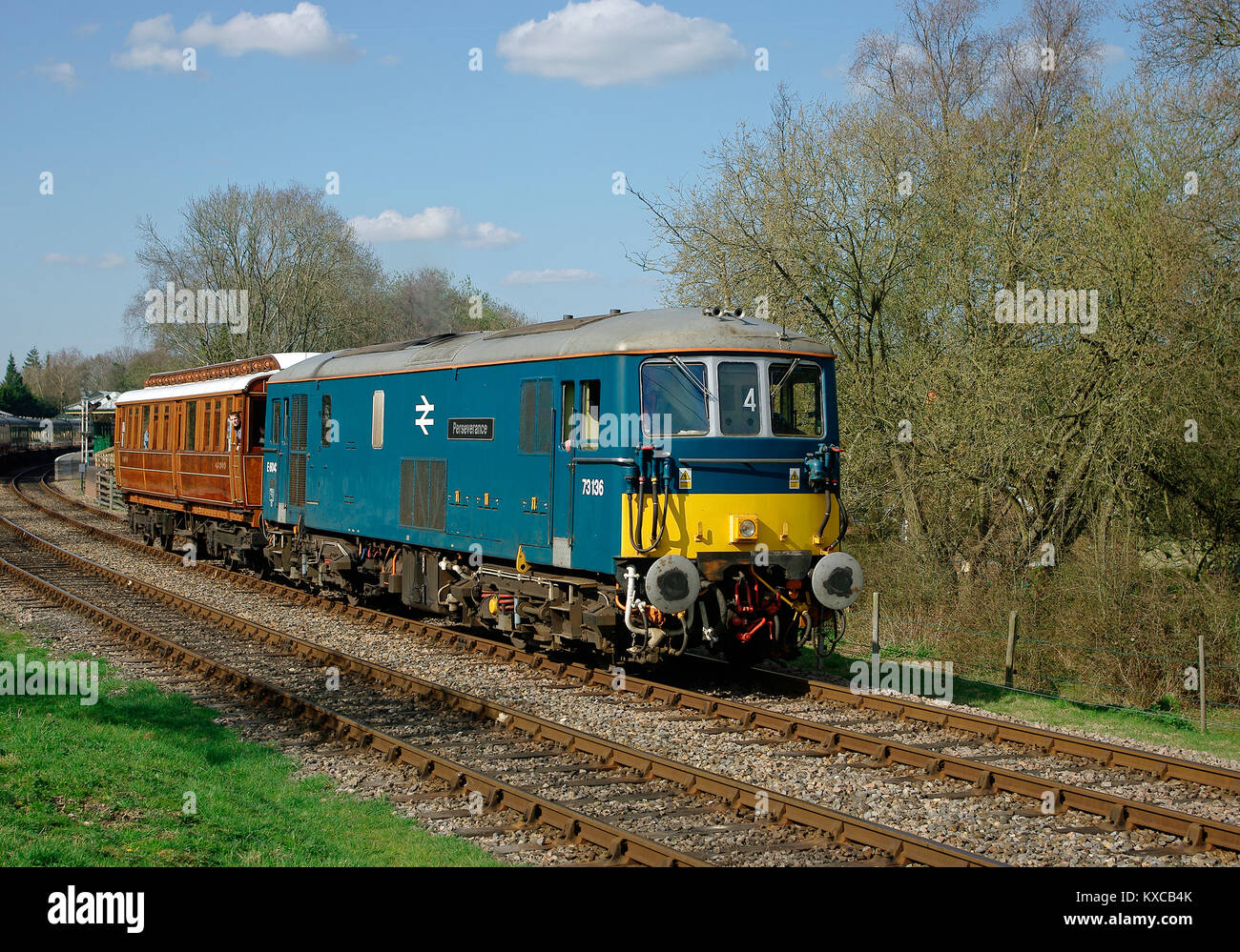 Class 73 Diesel at Bluebell Railway - Stock Image