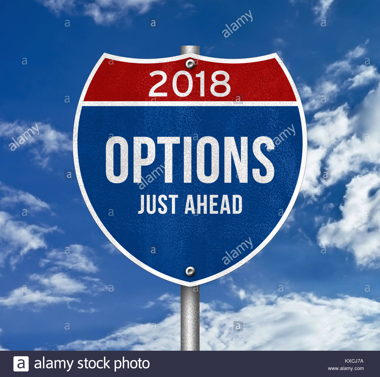 Options - just ahead - Stock Image