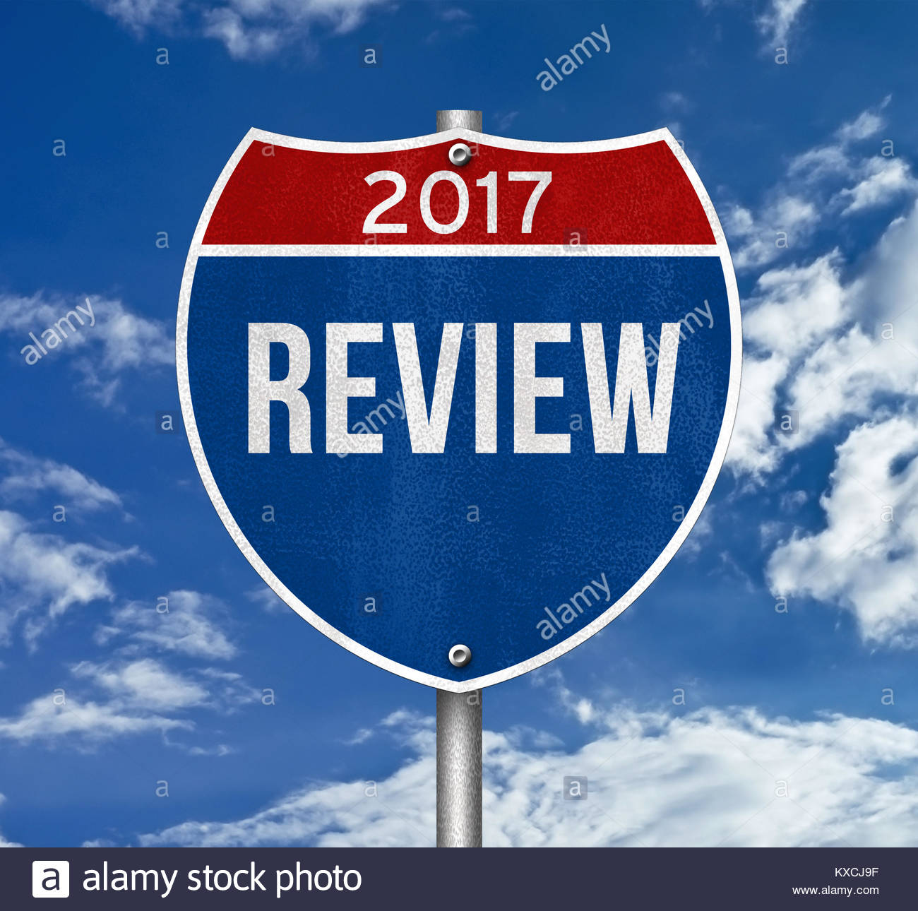 Review 2017 - Stock Image