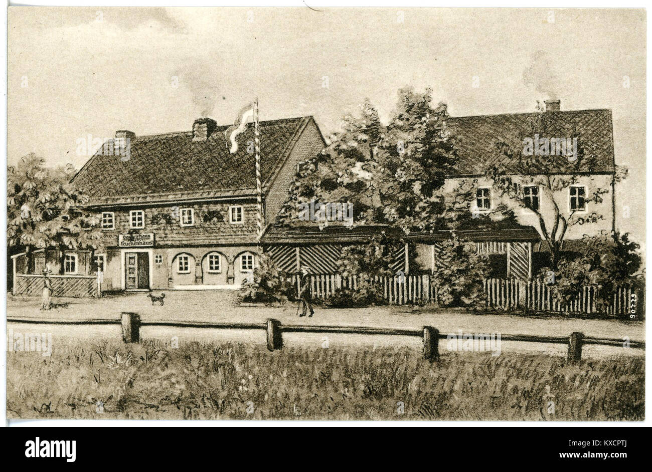 20657 kleindobschutz 1917 gasthaus zum kuchenhausl bruck sohn kunstverlag