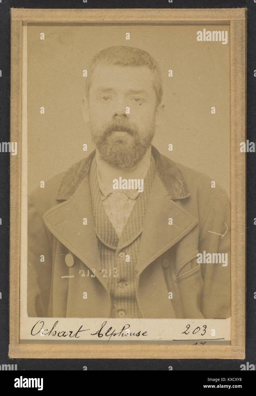 309. Ochart. Alphonse. 37 ans, né le 24-1-56 à Asbruch (Nord). Fabricant de chaussures. Anarchiste. 22 - Stock Image