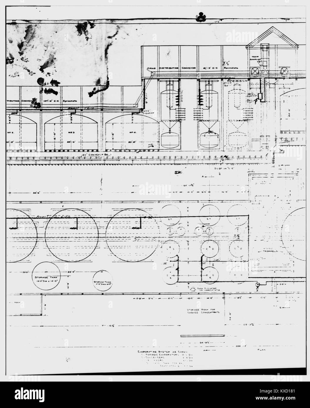 48. PHOTOCOPY OF DRAWING, AMMONIA LEACHING PLANT - Kennecott Copper Corporation, On Copper River ^ Northwestern - Stock Image