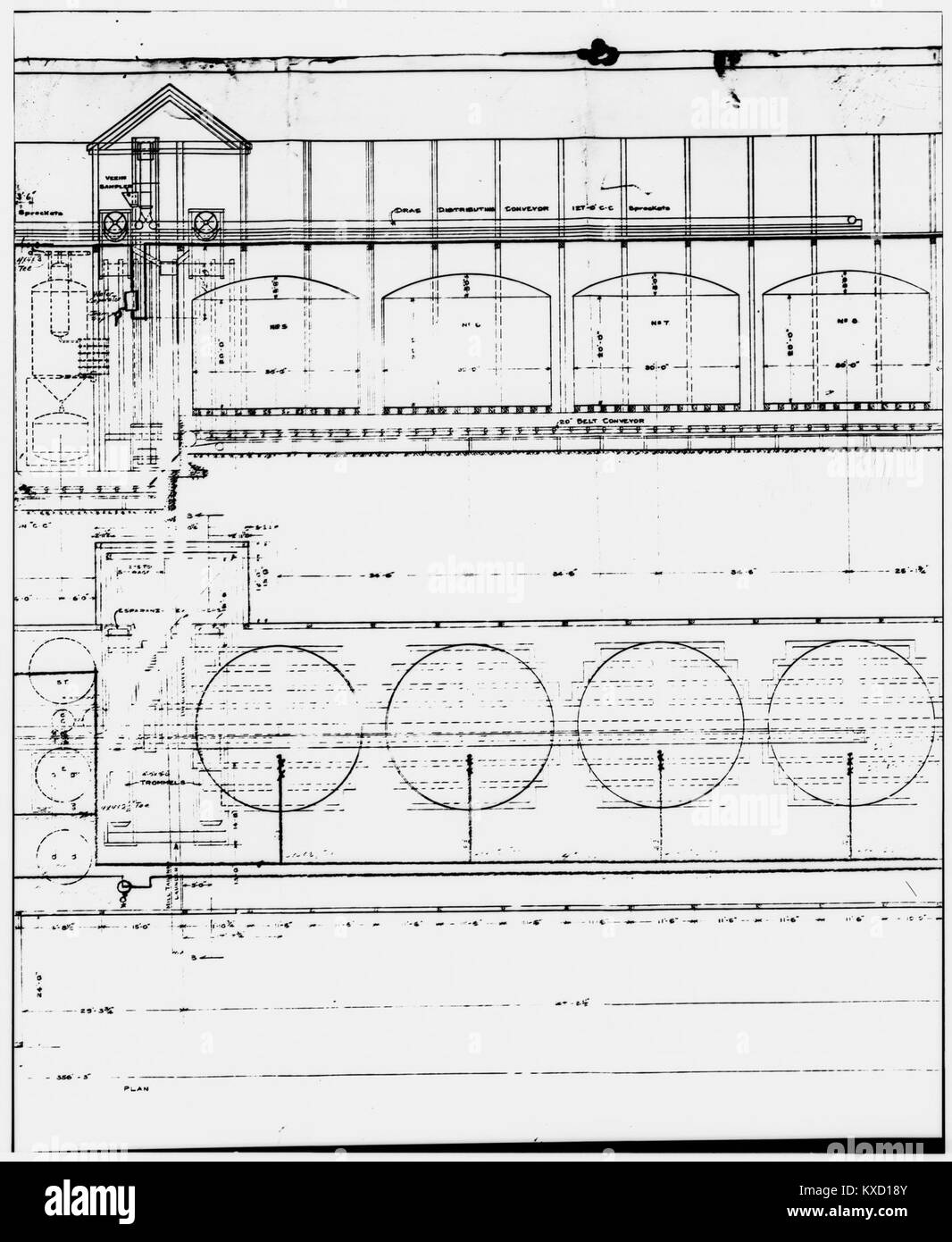 49. PHOTOCOPY OF DRAWING, AMMONIA LEACHING PLANT - Kennecott Copper Corporation, On Copper River ^ Northwestern - Stock Image