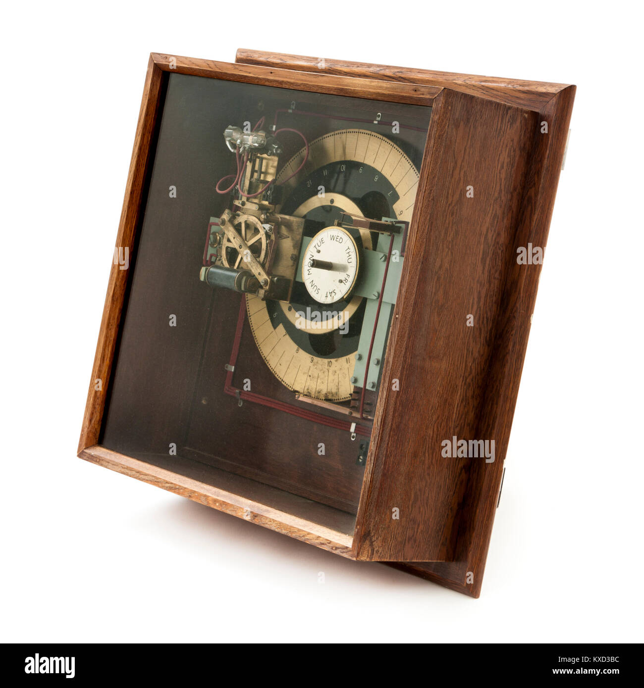 Vintage 1950's electric 10V Synchronome clock DR-PC Bell Programmer (No 1288), made by the Synchronome Co. Ltd, - Stock Image