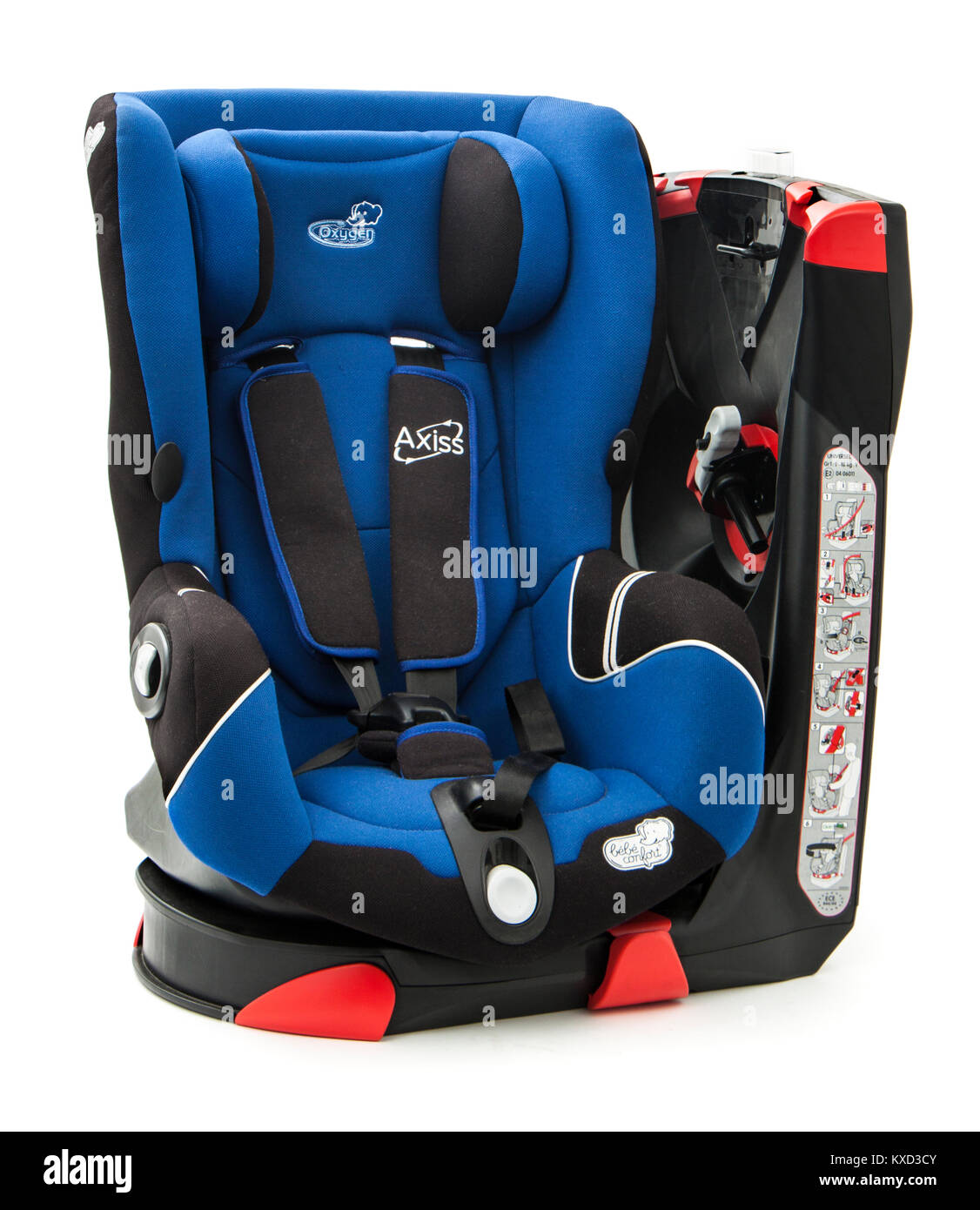 Bebe Confort 'Axiss' swiveling car seat for infants between age 9 months to 4 years (9-18kg) - Stock Image