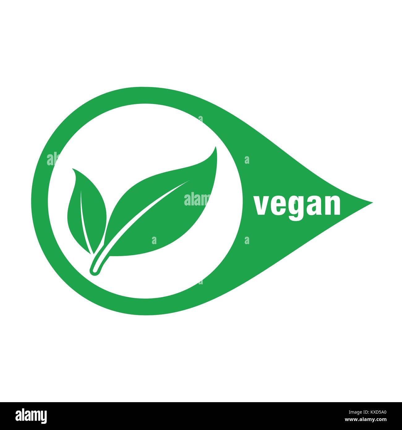 Icon for vegan food, vector, vegan food  Vegan Stock Vector Art