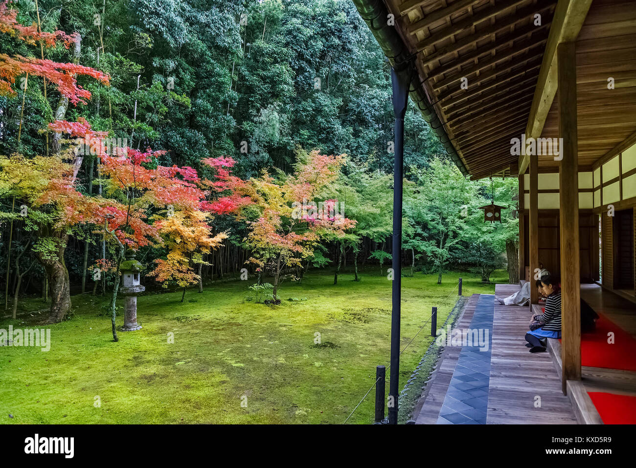 Koto-in Temple in Kyoto, Japan  KYOTO, JAPAN - OCTOBER 22: Koto-in Temple in Kyoto, Japan on October 22, 2014. Unidentified - Stock Image