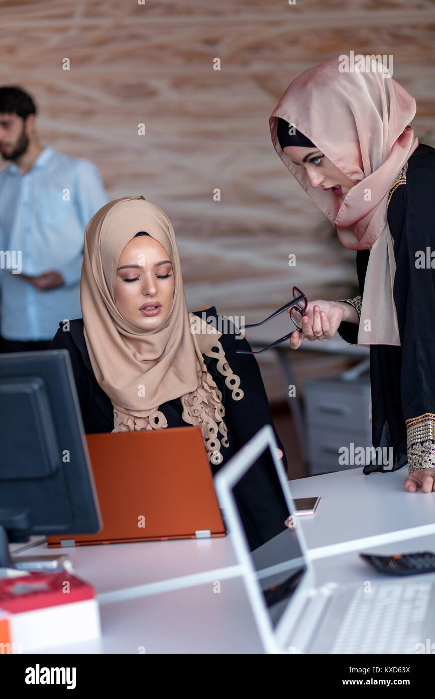 Startup business people group working everyday job at modern office. - Stock Image