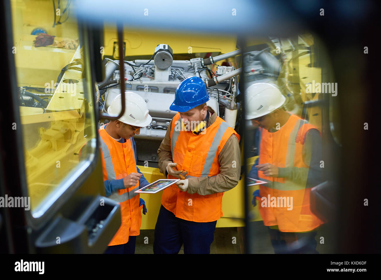 Productive Discussion of Industrial Engineers - Stock Image