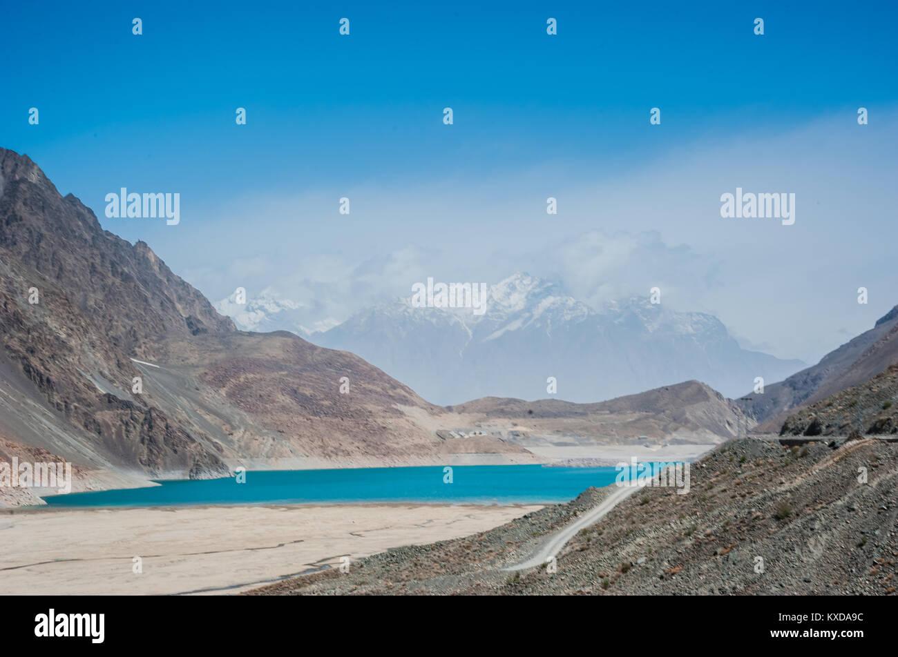 Satpara Lake,Skardu ,Gilgit and Baltistan, Pakistan - Stock Image