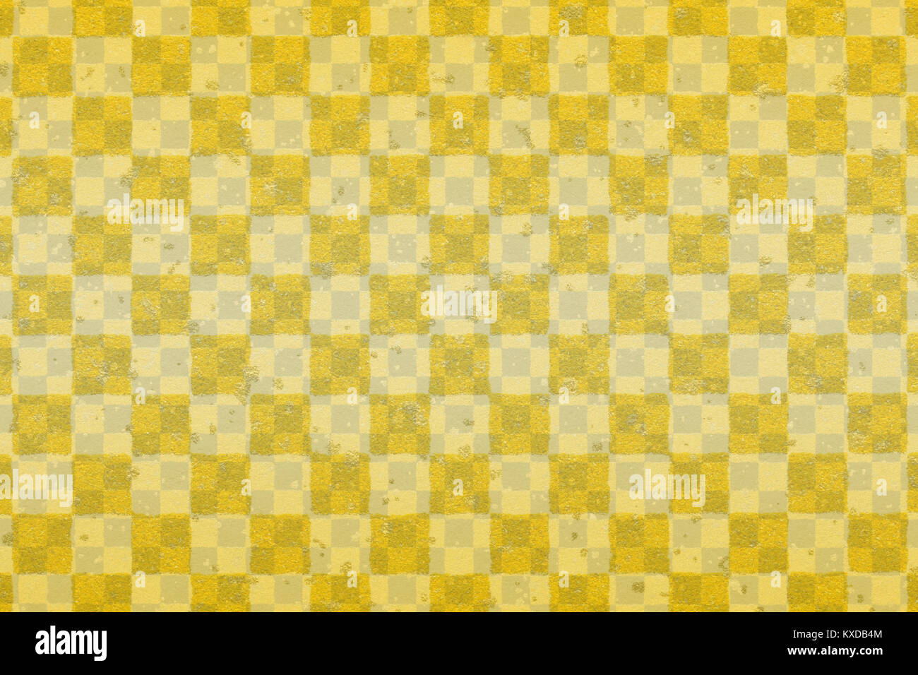 Japanese gold checkered pattern paper texture abstract Stock Photo