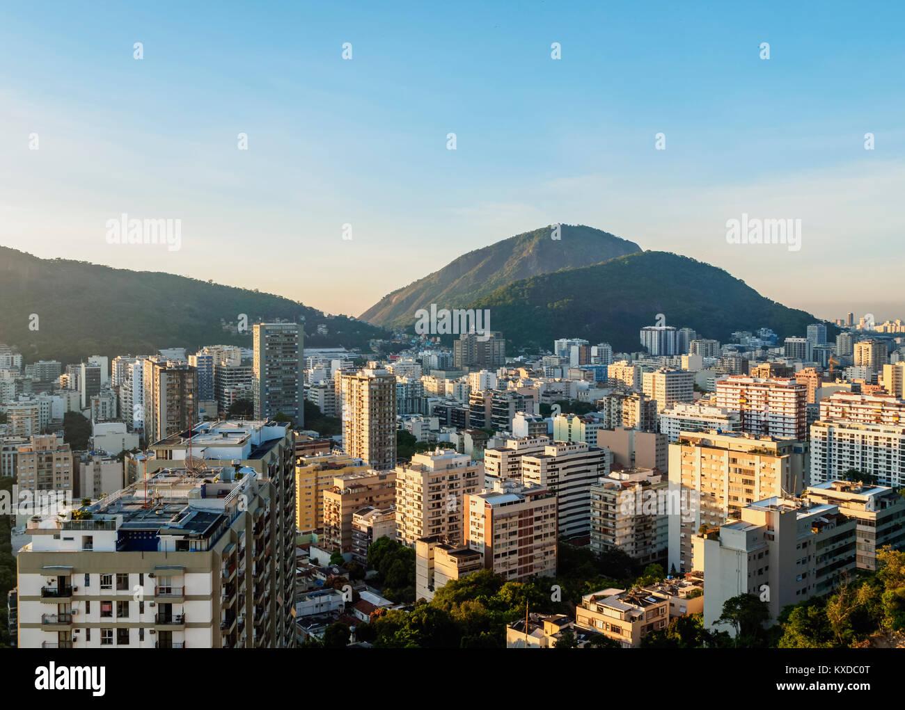 Botafogo and Humaita Neighbourhoods, Rio de Janeiro, Brazil - Stock Image