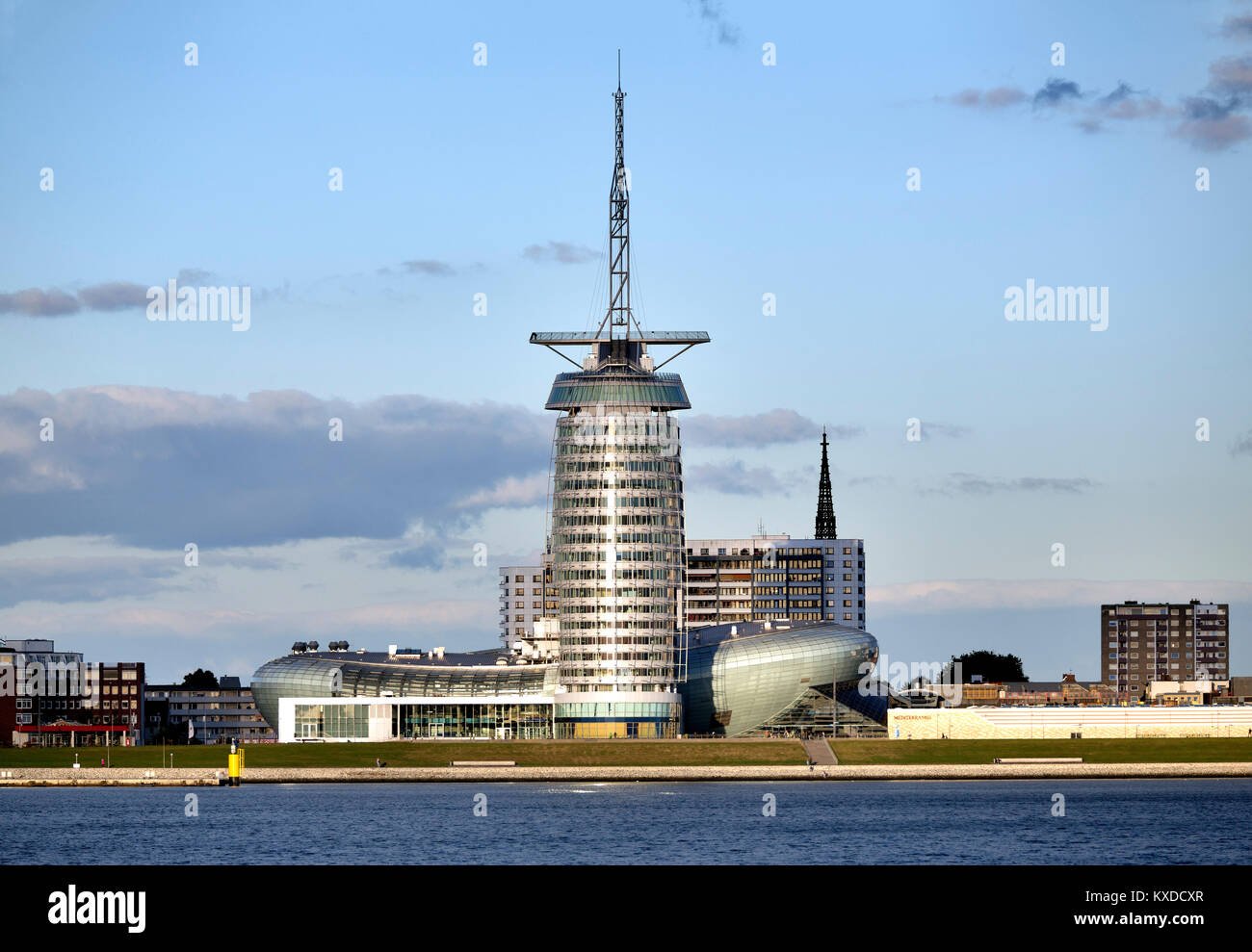 Klimahaus 8° East and Atlantic Hotel Sail City,Bremerhaven,Bremen,Germany - Stock Image