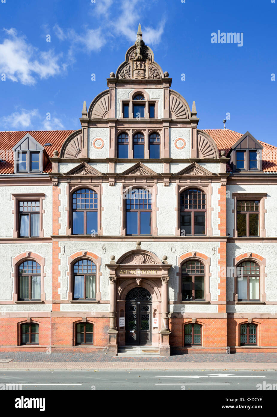 Local Court,Cuxhaven,Lower Saxony,Germany - Stock Image