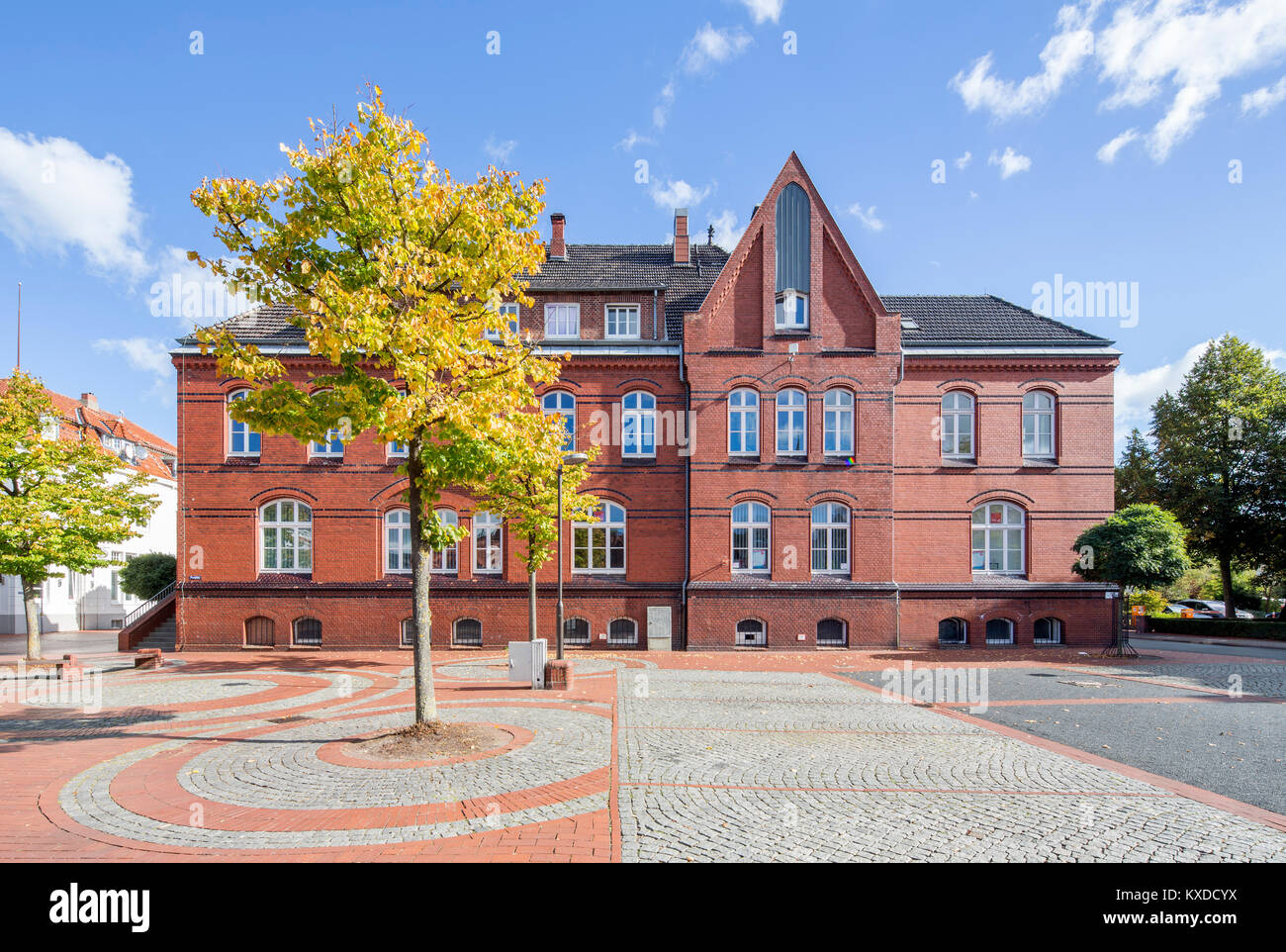 Old Post Office,Brick Building,Brake,Lower Saxony,Germany - Stock Image