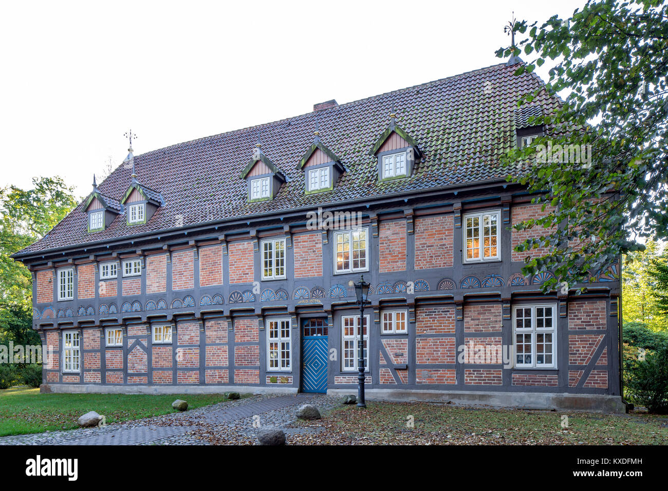 Manor Sandbeck,today a cultural centre with wedding room,district school of arts and crafts and multipurpose hall - Stock Image