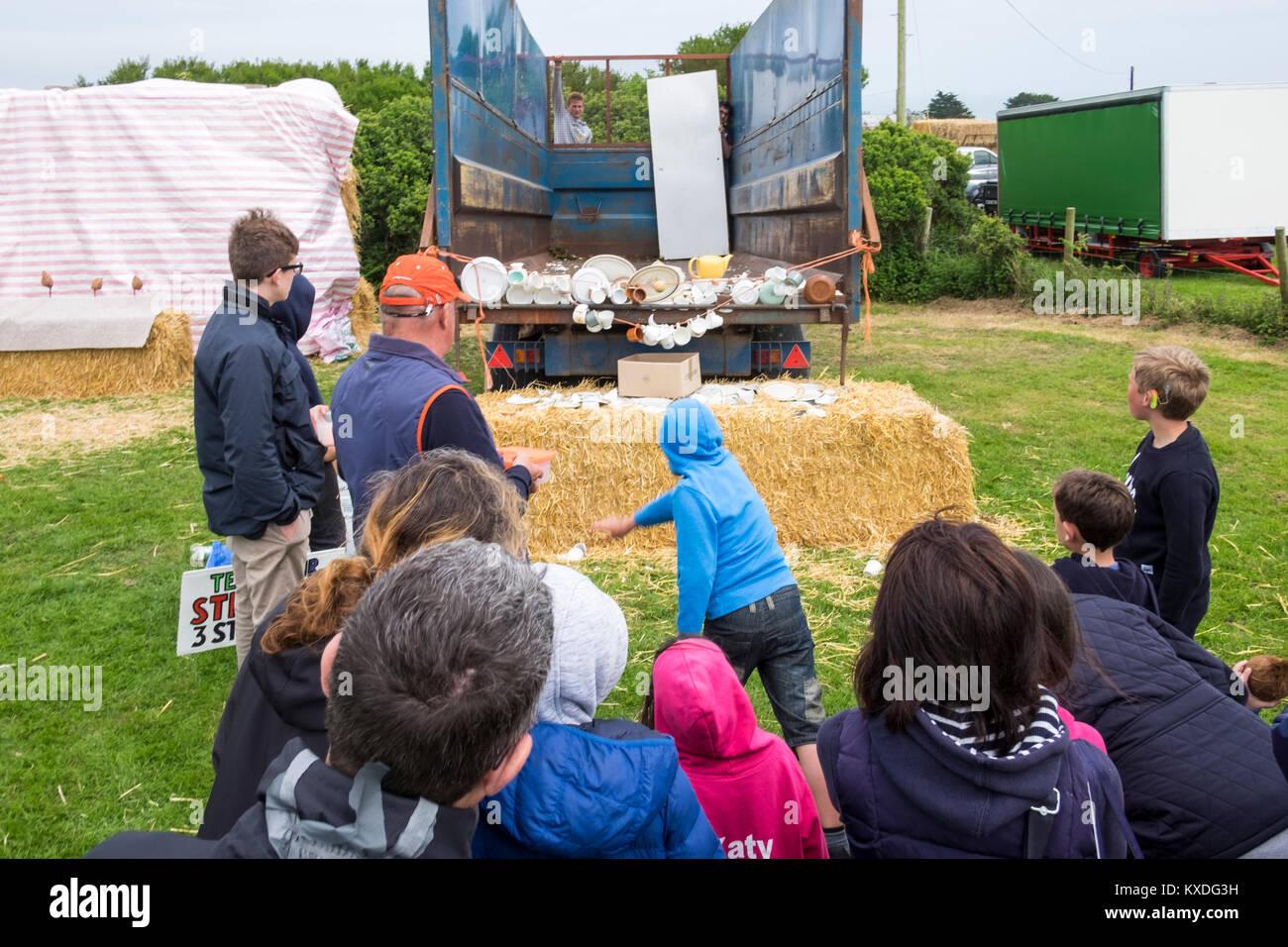 Prawle Fair, a traditional village fete in South devon, UK - Stock Image