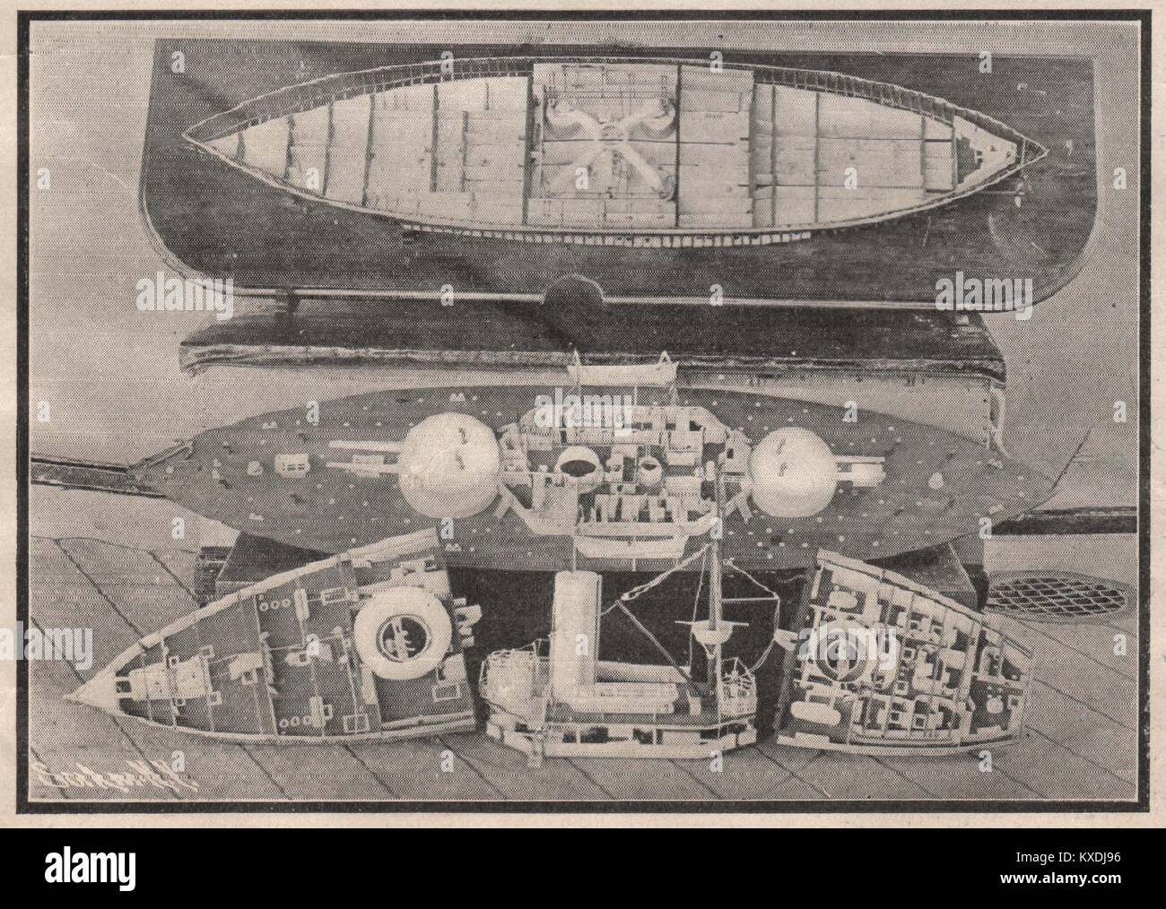 Model Dismantled to show Interior Details - Stock Image