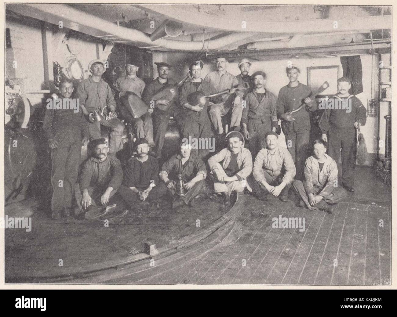 Firemen and Coal Passers on the Maine - These are some more of the Maine crew for whom the whole country is in sorrow - Stock Image