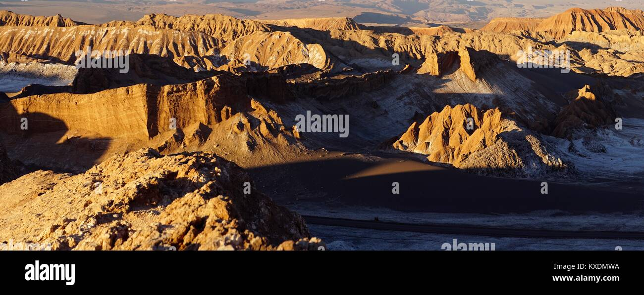 Rock erosion in the Valley of the Moon, Valle de la Luna, Atacama, San Pedro de Atacama, El Loa, Antofagasta, Chile - Stock Image