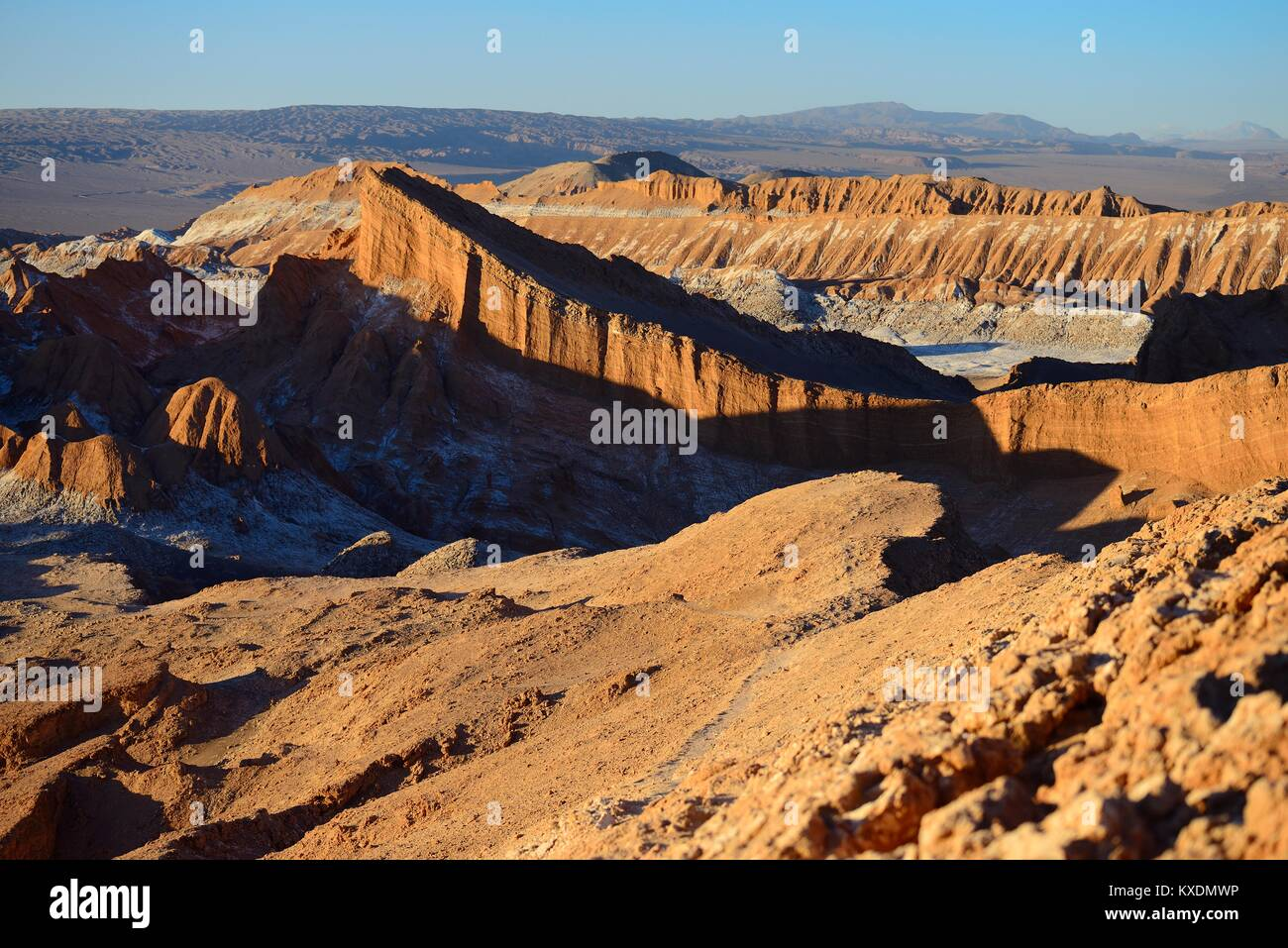 In the Valley of the Moon, Valle de la Luna, San Pedro de Atacama, Antofagasta, Chile - Stock Image