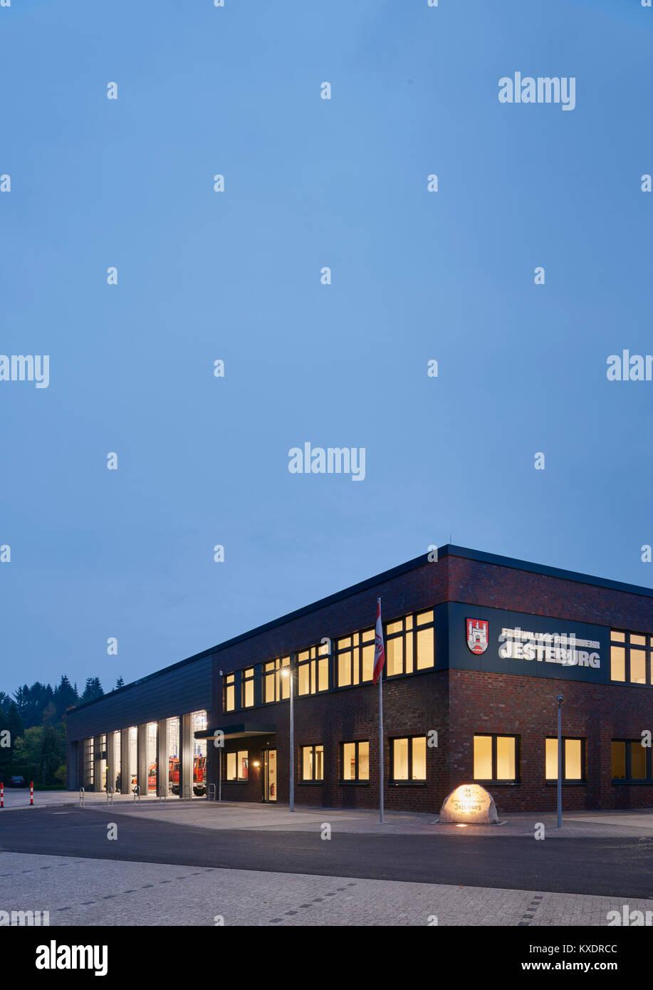 Feuerwache Jesteburg - Stock Image