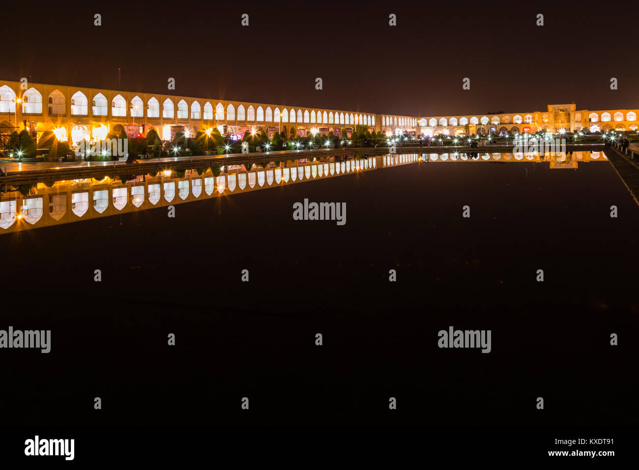Naqsh-e Jahan or Imam Square, Esfahan, Iran - Stock Image