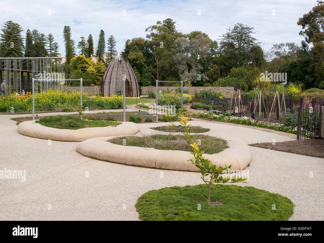 Adelaide, South Australia, Australia - September 10, 2017: The Little Sprouts Kitchen Garden at the Adelaide Botanic Stock Photo