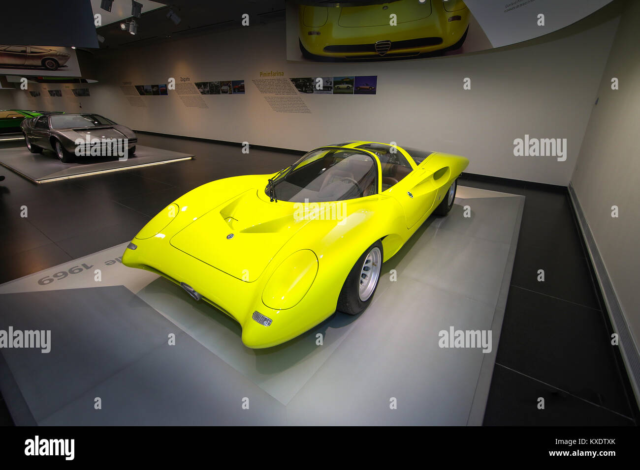 A Superb Alfa Romeo 33 2 Coupe Speciale Model On Display At The Stock Photo Alamy