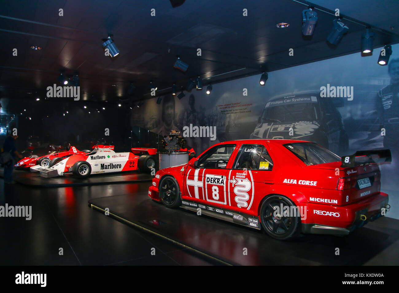 Alfa Romeo 155 Ti DTM with Formula 1 cars in the background on Stock ...