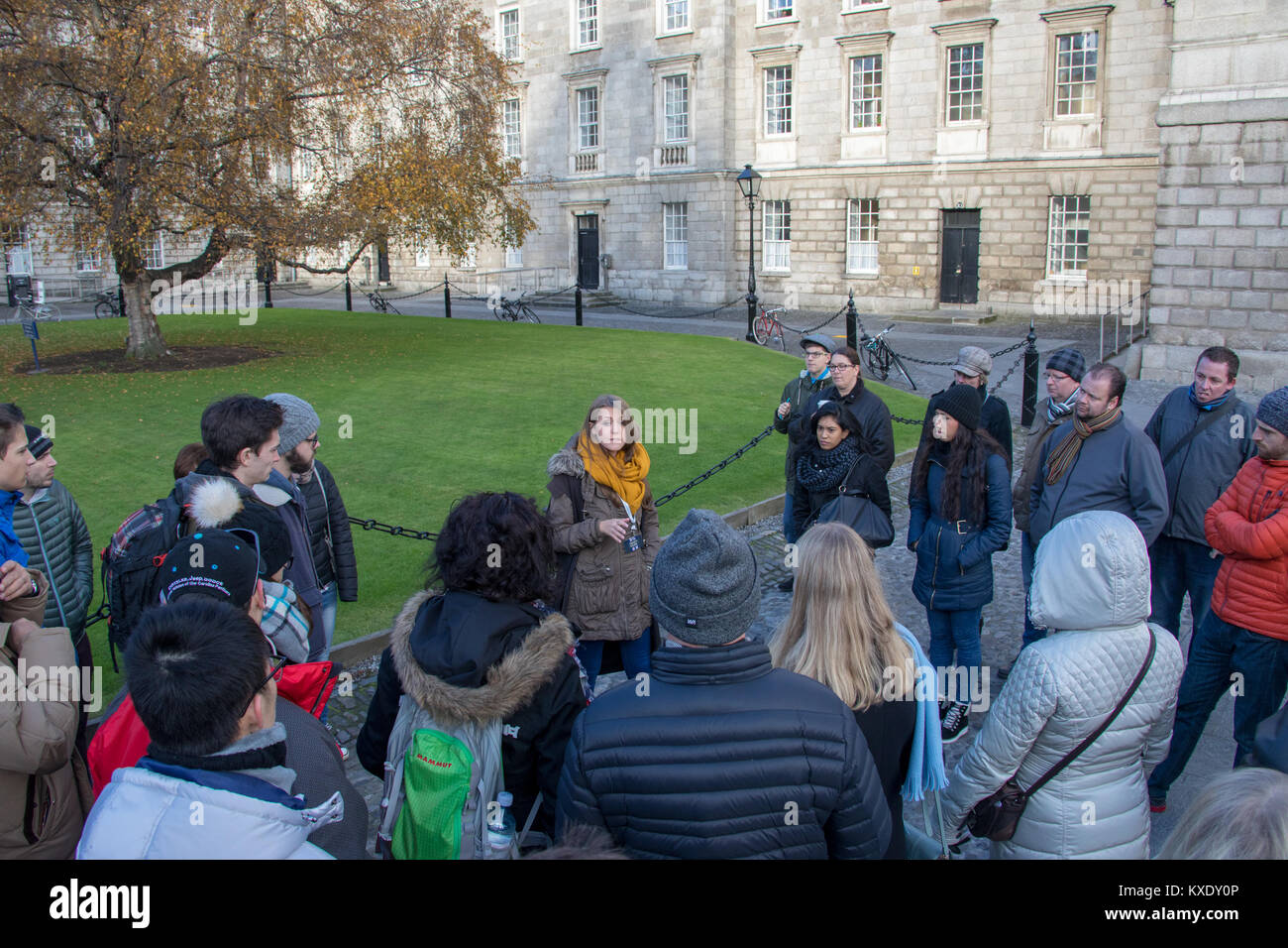 Trinity Tours, student-led guided tour of Trinity College, Dublin, Ireland - Stock Image