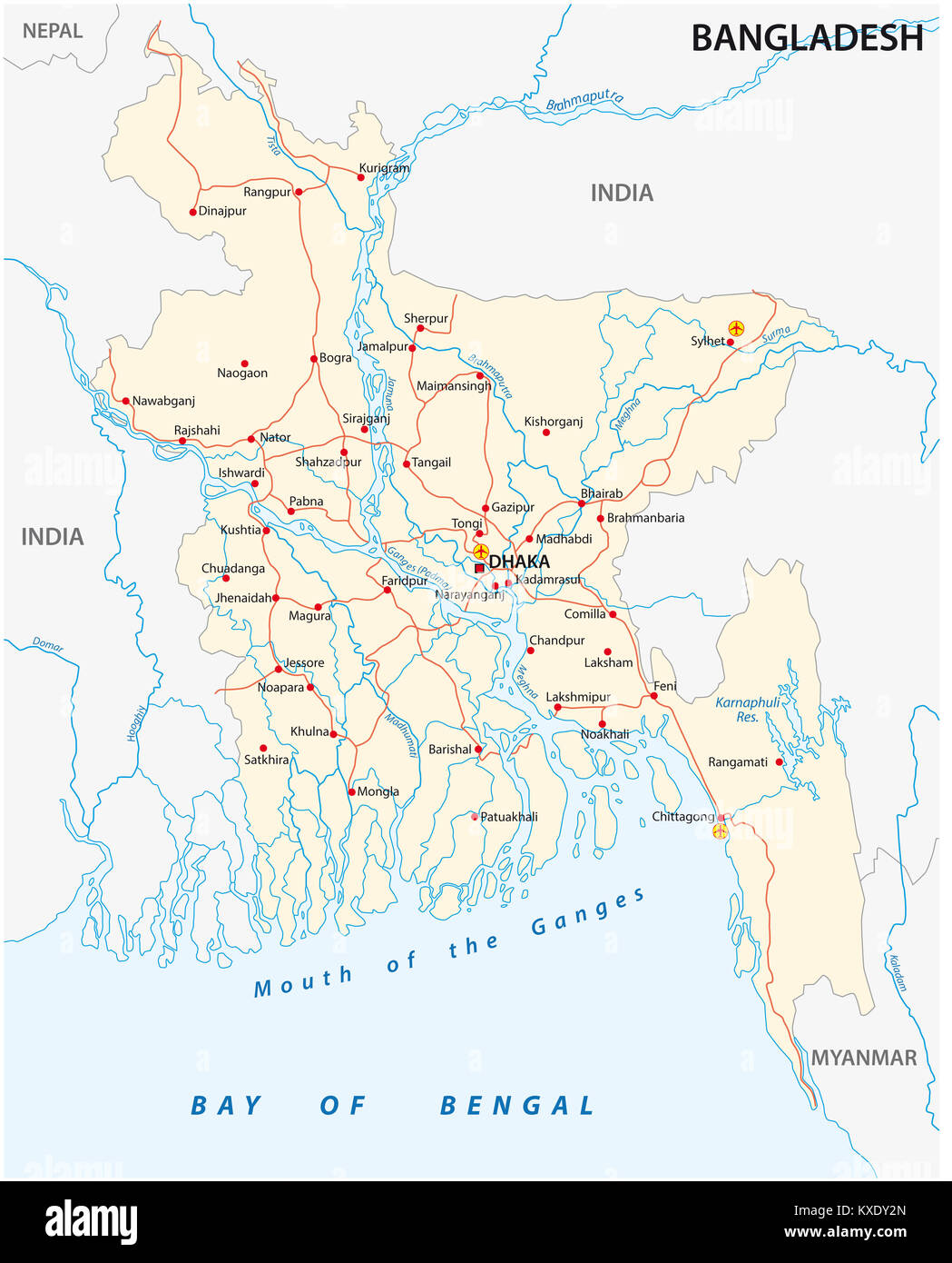 Myanmar On Map Of Asia.South Asia Map Myanmar Stock Photos South Asia Map Myanmar Stock