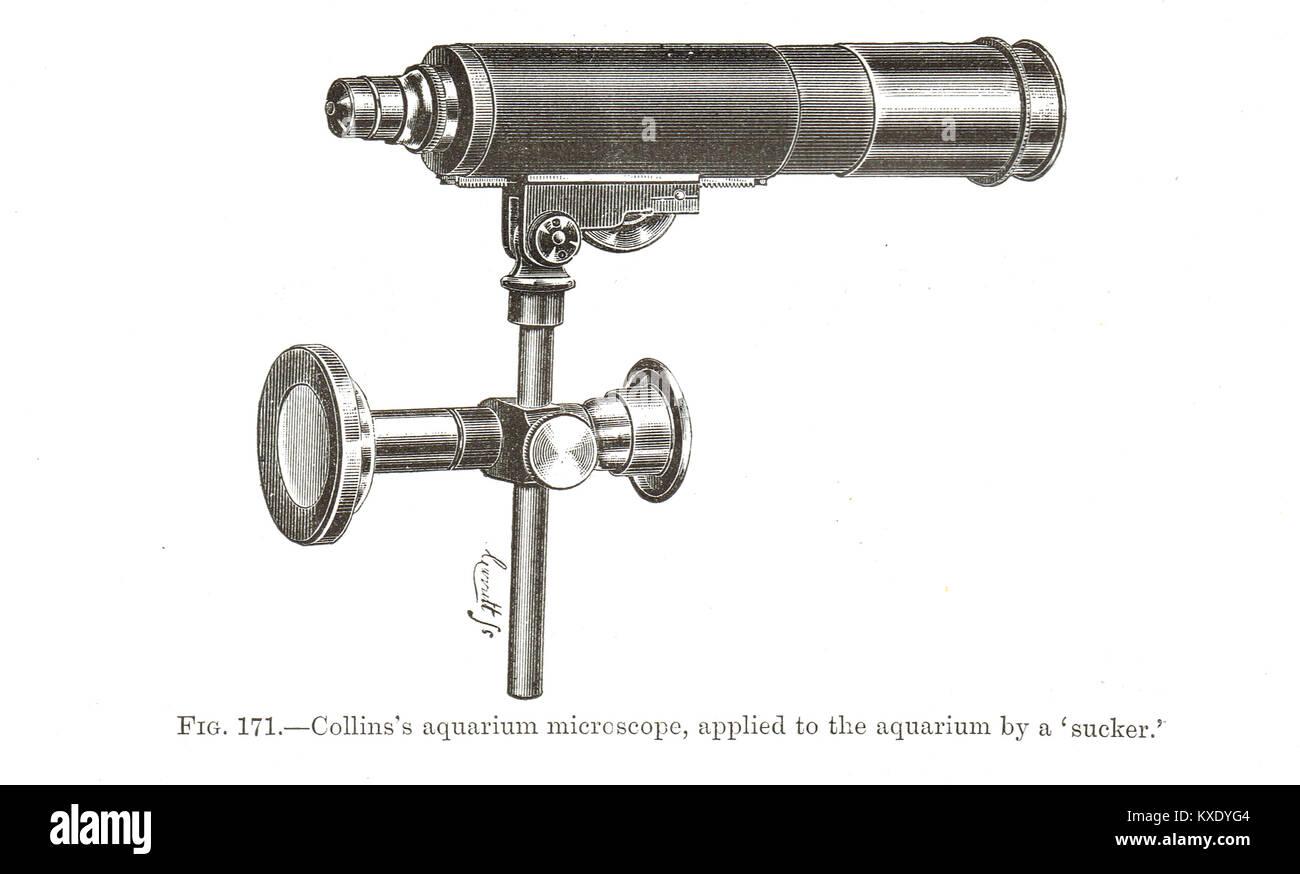 Collins's aquarium microscope - Stock Image