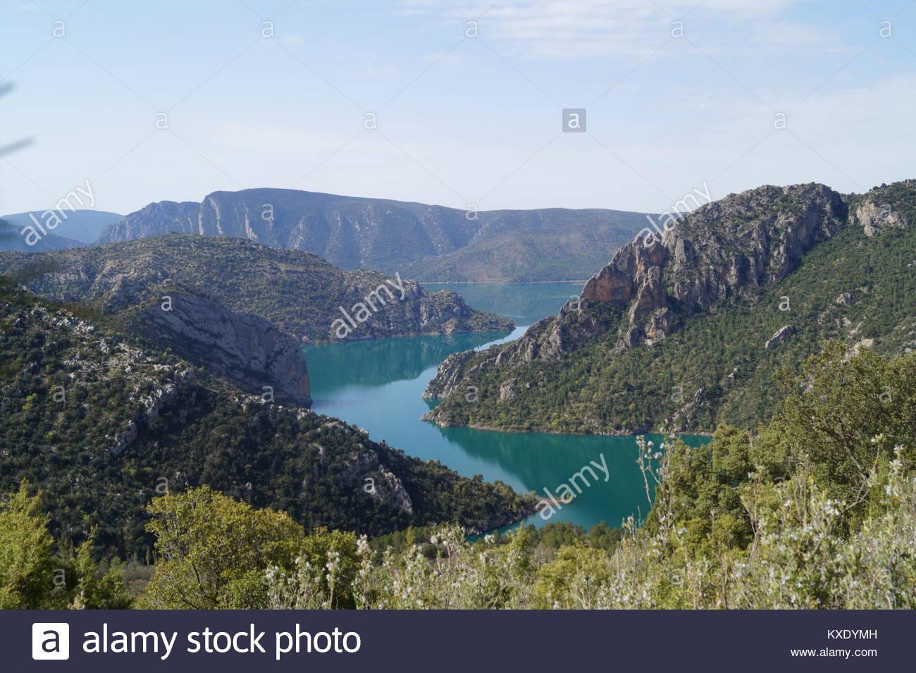 Desfiladero de Monrrebey - Congosto de Mont Rebei - Stock Image