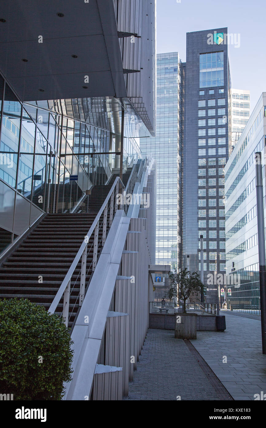complex of Amsterdam Zuidas development office buildings - Stock Image