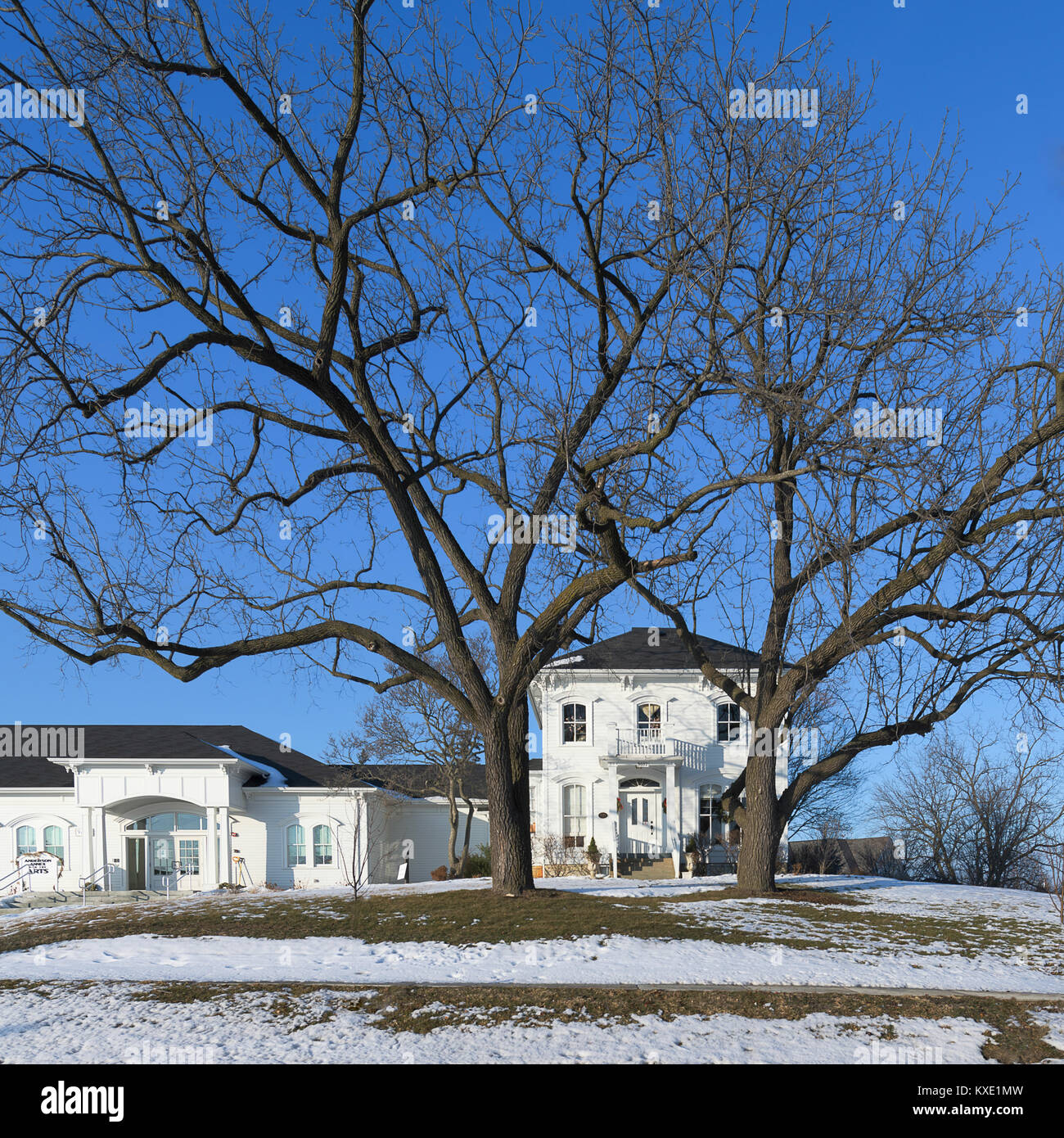 The McCord House in Palos Park, Illinois. This is the oldest building (1834) in the southwest suburbs of Chicago. - Stock Image