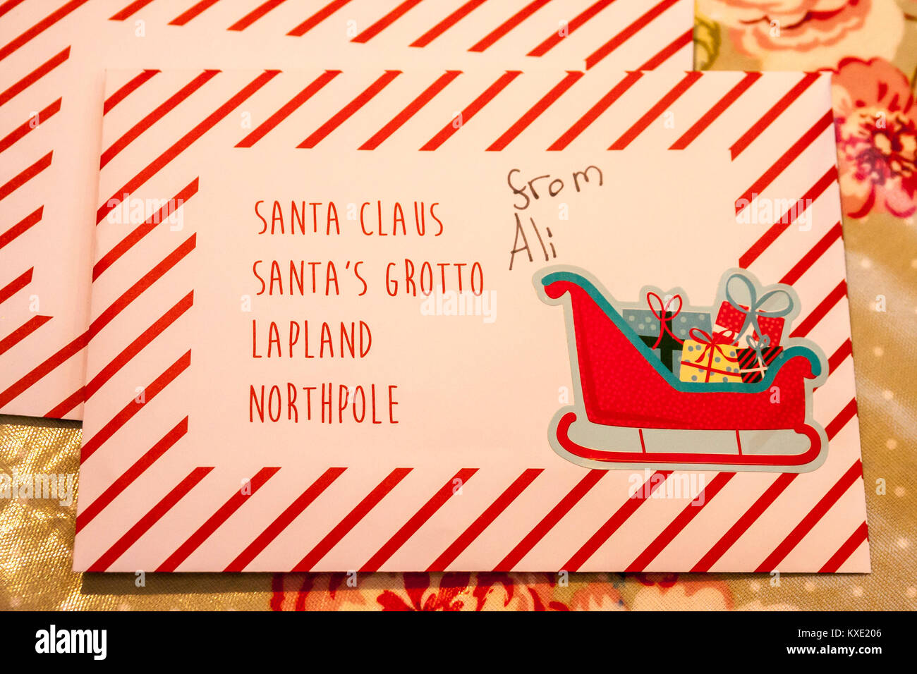 Dear Santa Letter Stock Photos  Dear Santa Letter Stock Images  Alamy