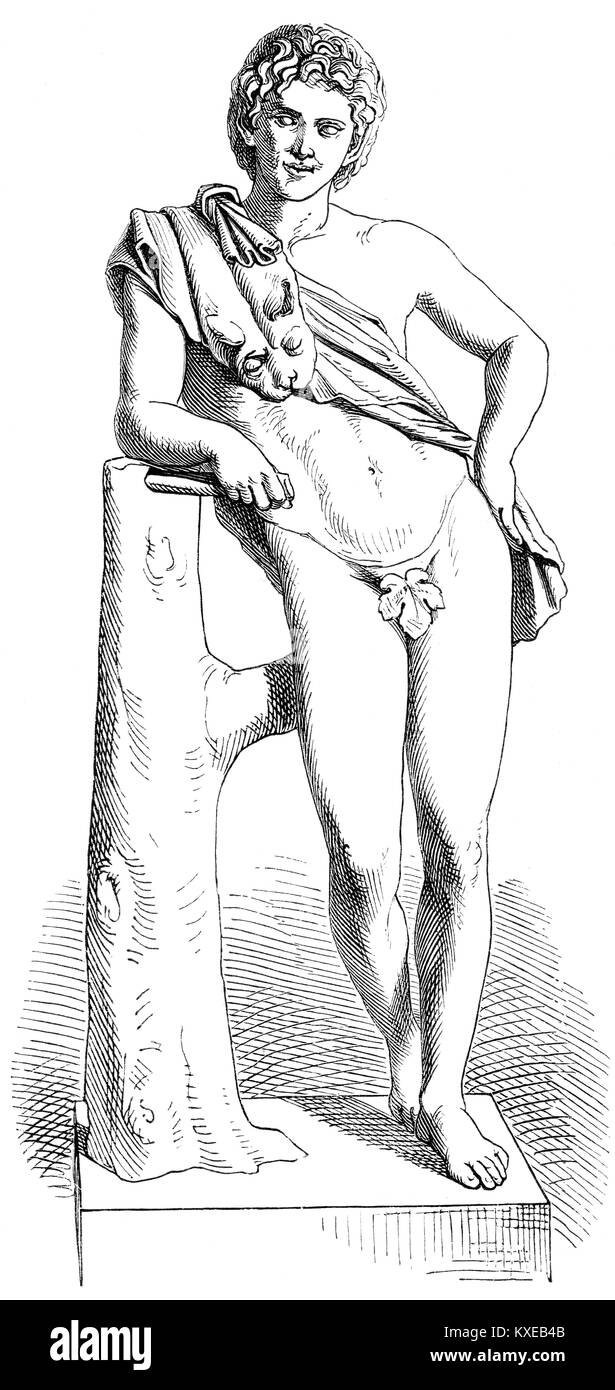 The Resting Satyr or Leaning Satyr by Praxiteles - Stock Image