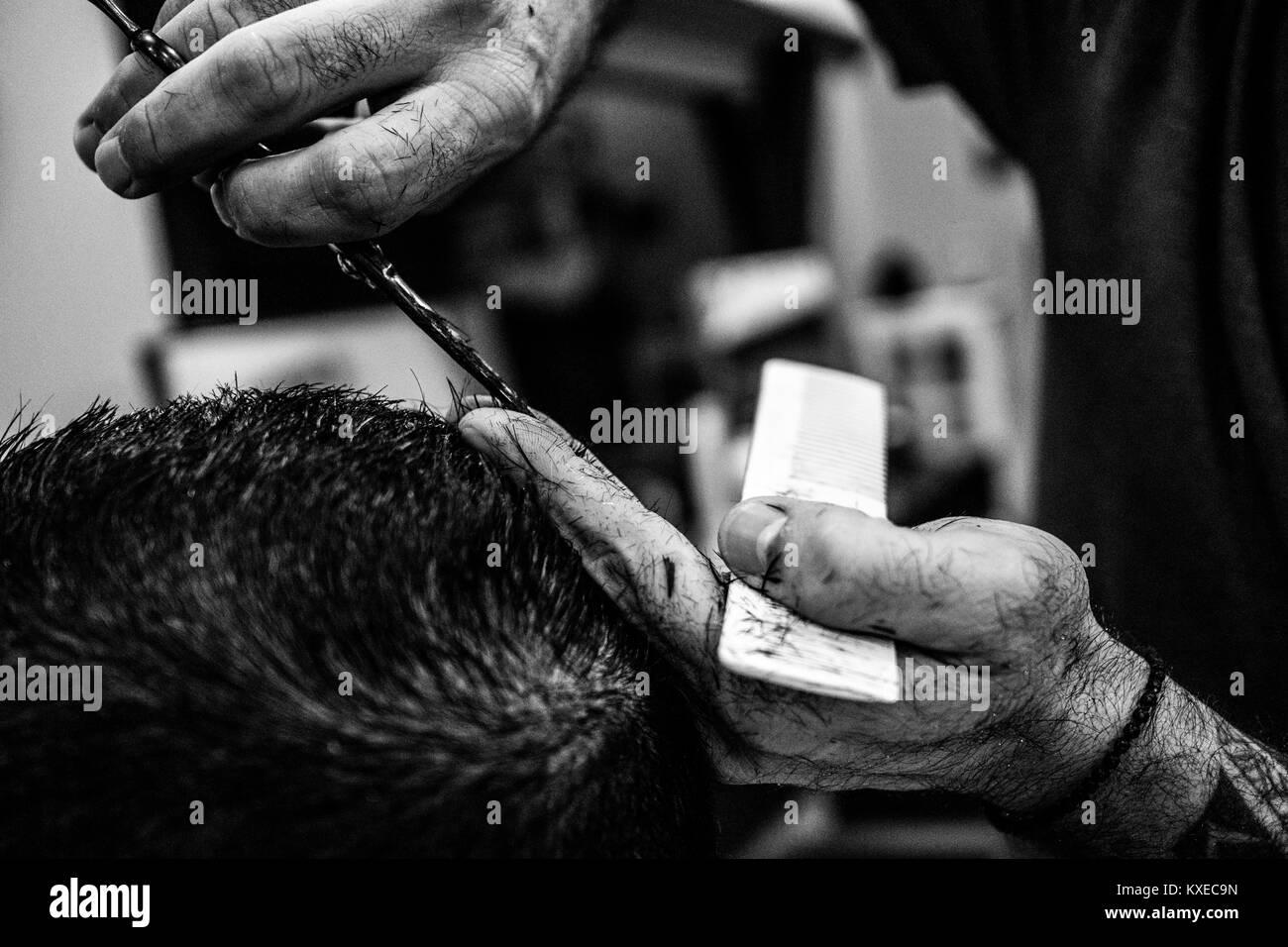 Barber in Crete - Stock Image