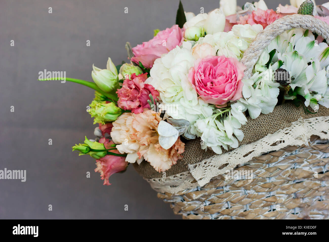 Beautiful Wedding Bouquet Flowers Cotton Stock Photos & Beautiful ...