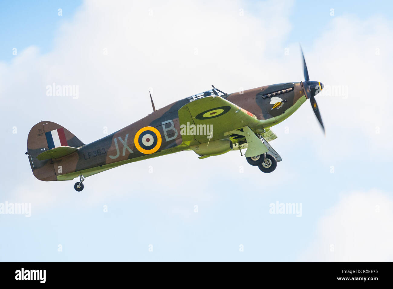 Hurricane LF363 (Mk IIc) Battle of Britain 75th anniversary at Goodwood (RAF Westhampnett) - Stock Image