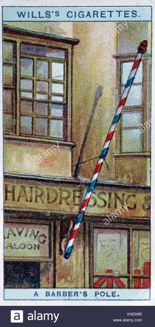 Old Barbers shop illustration - Stock Image