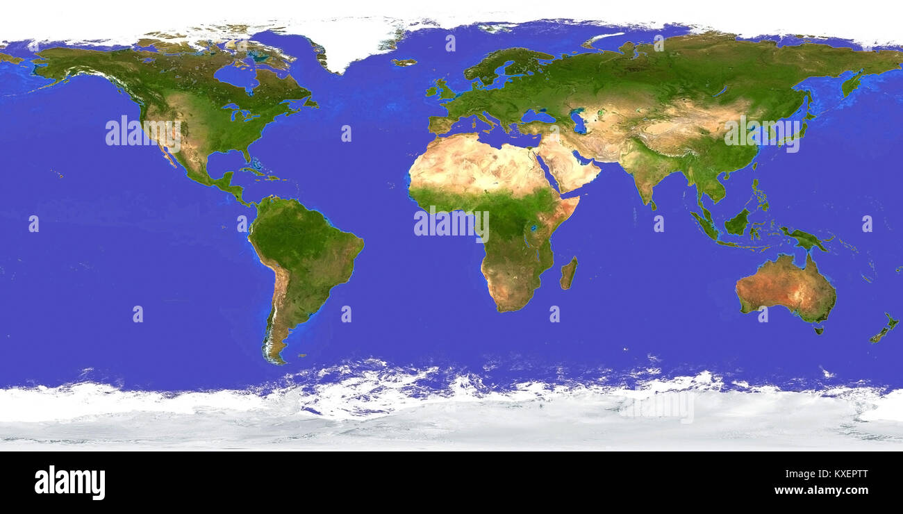 earth map aerial view day 3d rendering stock image